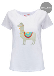 ON THE RISE Exclusive Llama Tee - White