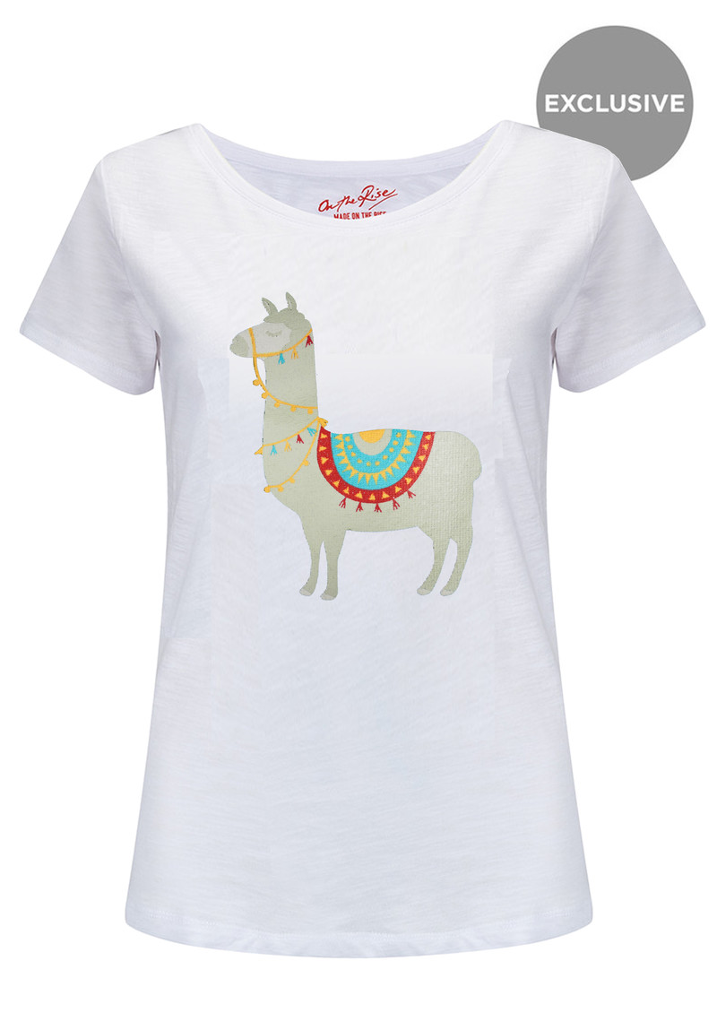 ON THE RISE Exclusive Llama Tee - White main image