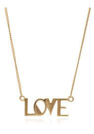 RACHEL JACKSON Love Necklace - Gold
