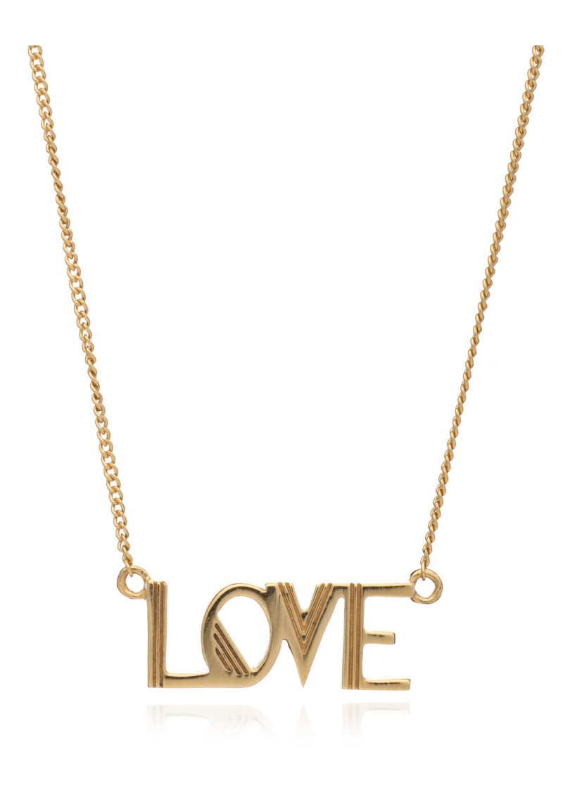 RACHEL JACKSON Love Necklace - Gold main image