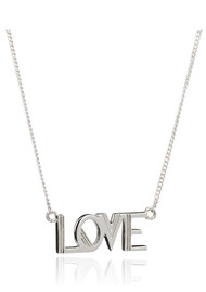 RACHEL JACKSON Love Necklace - Silver