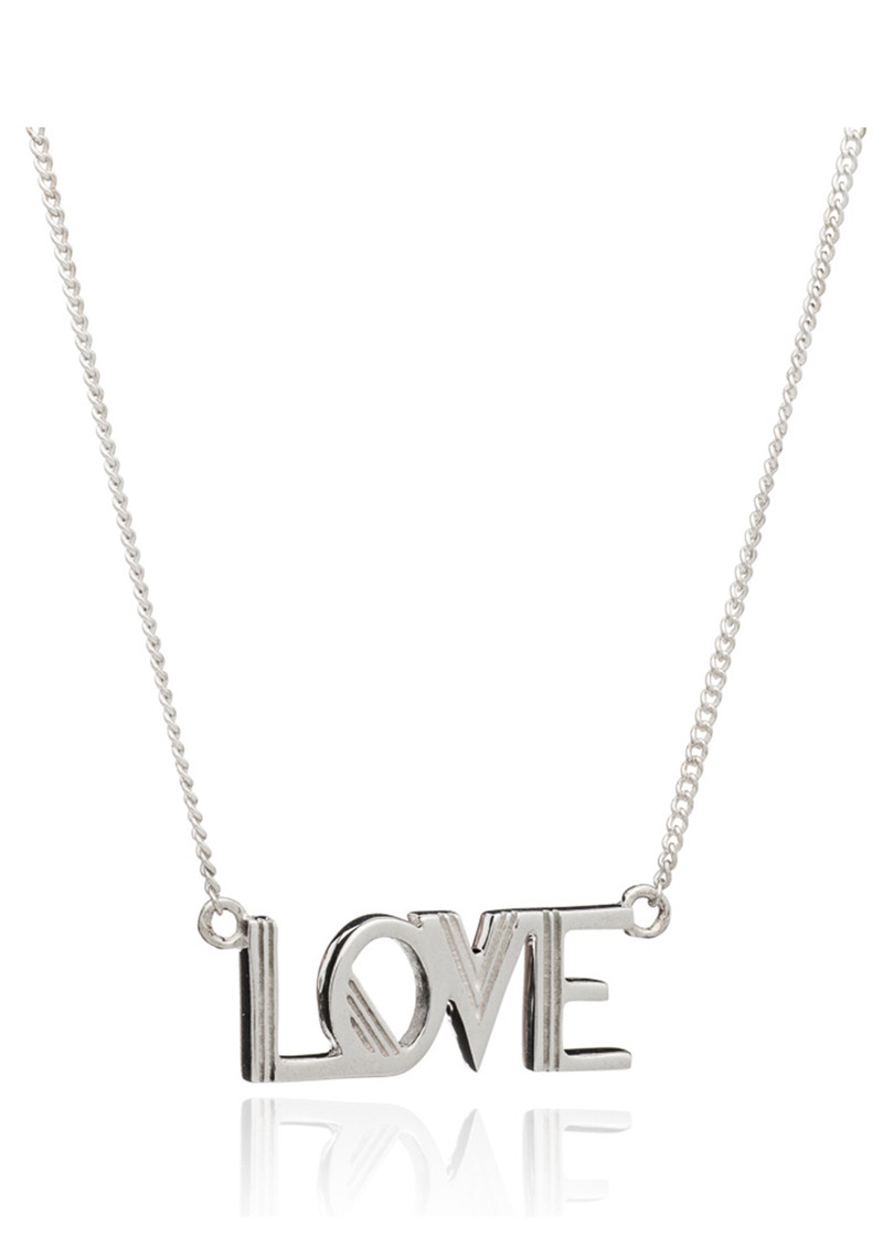 RACHEL JACKSON Love Necklace - Silver main image