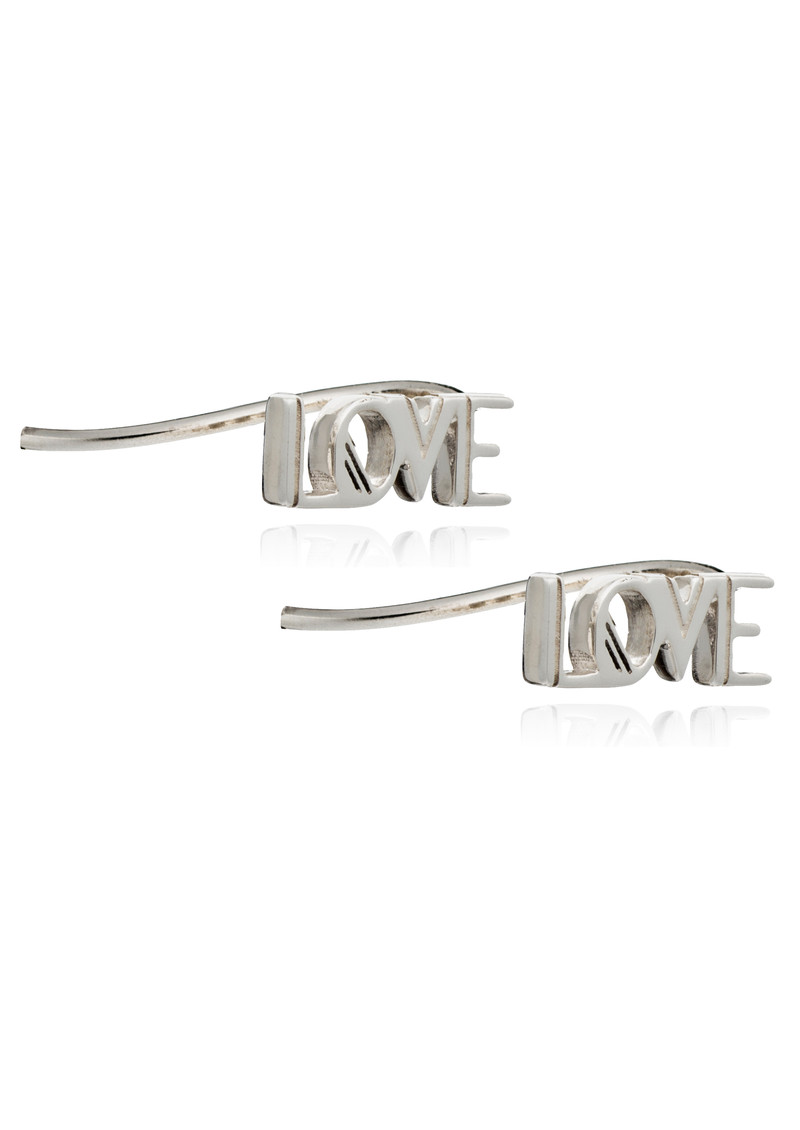 RACHEL JACKSON Love Crawlers Earrings - Silver main image