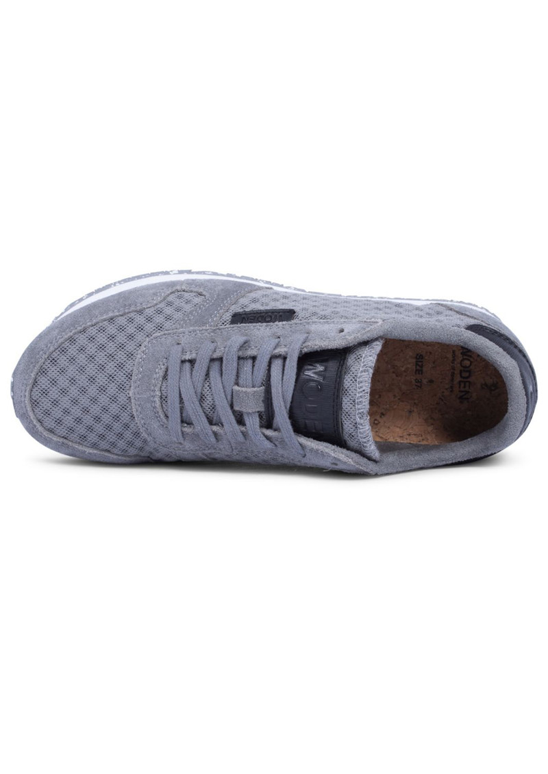 WODEN Ydun Suede Mesh Trainers - Autumn Grey main image