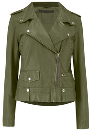 MDK New Seattle Leather Jacket - Cap Olive