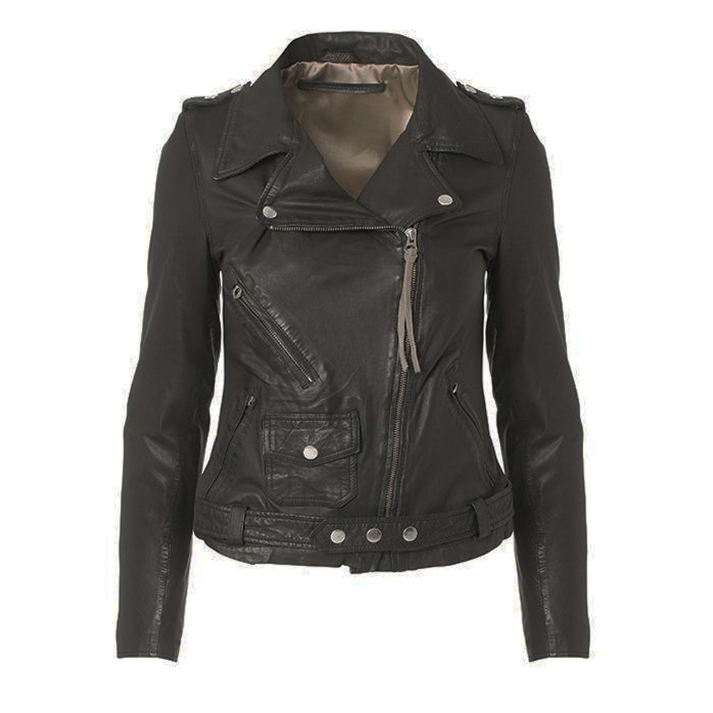 London Leather Jacket - Black