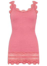 Rosemunde Wide Lace Silk Blend Vest - Tea Rose