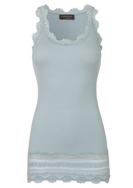 Rosemunde Wide Lace Silk Blend Vest - Cloud Blue