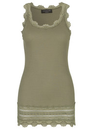 Rosemunde Wide Lace Silk Blend Vest - Burnt Olive