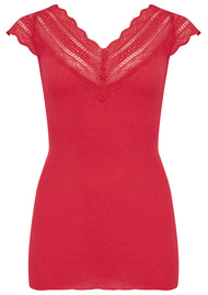 Rosemunde Silk Mix Top - Strawberry