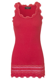 Rosemunde Wide Lace Silk Blend Vest - Strawberry