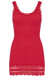 Rosemunde Silk Mix Tank with Thin Straps - Strawberry