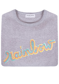 MAISON LABICHE Rainbow Sweater - Heather Grey
