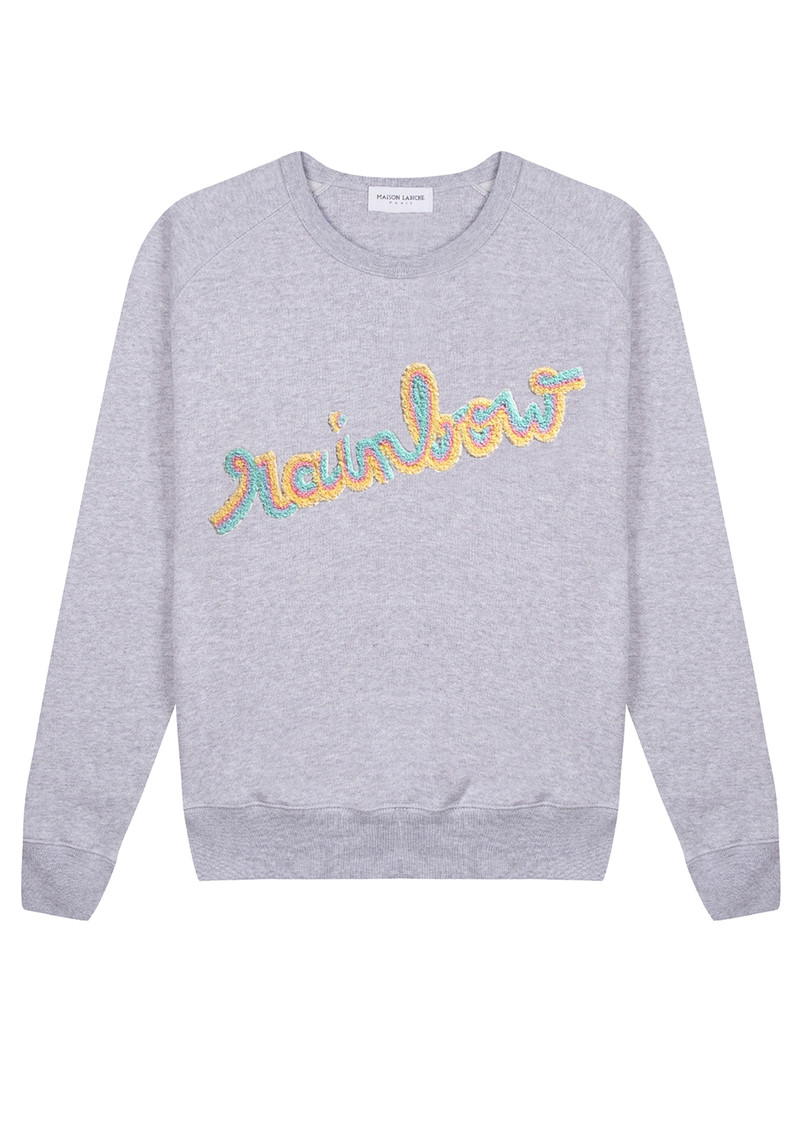 MAISON LABICHE Rainbow Sweater - Heather Grey main image