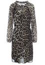 DEA KUDIBAL Amber Exclusive Leopard Dress - Leo Gold