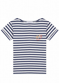 MAISON LABICHE Sailor Short Sleeve Seashells Tee - Ivory Navy