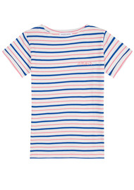 MAISON LABICHE Sailor Short Sleeve Amour Tee - Pink, Blue & White