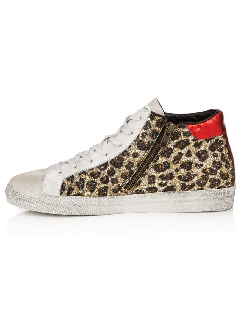 AIR & GRACE Alto Trainers - Leopard Glitter main image