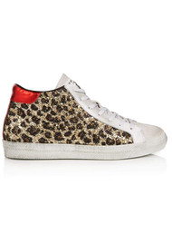 AIR & GRACE Alto Trainers - Leopard Glitter
