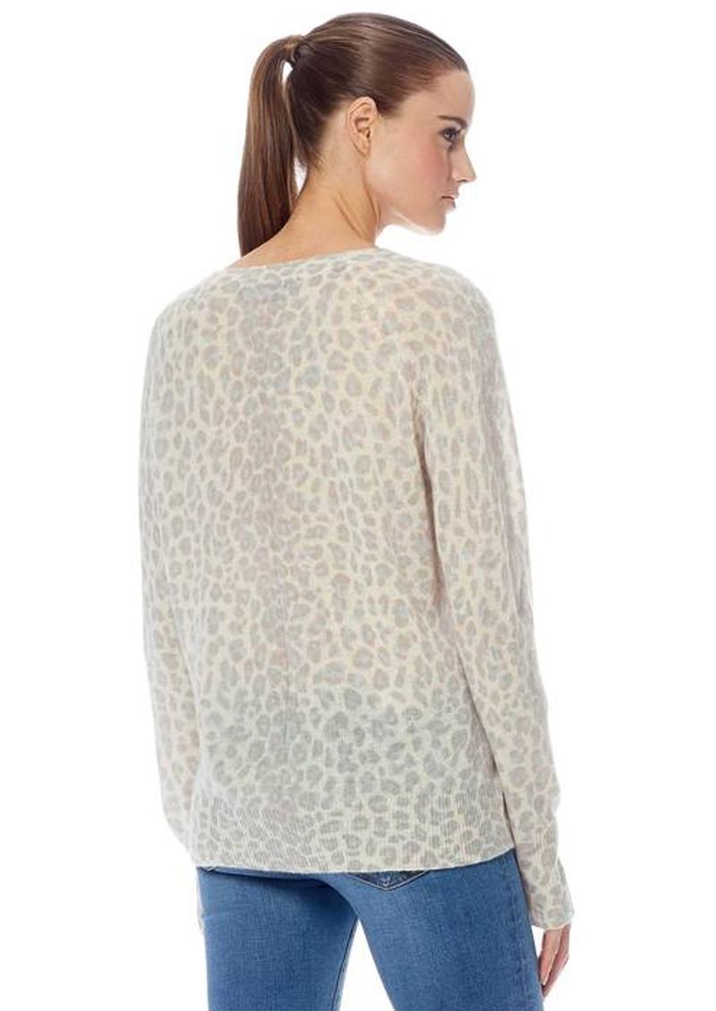 360 SWEATER Sylvia Leopard Cashmere Sweater - Mint & Chalk main image