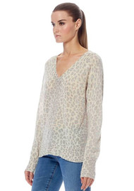 360 SWEATER Sylvia Leopard Cashmere Sweater - Mint & Chalk