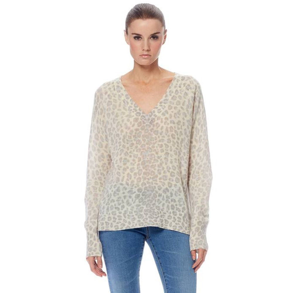 Sylvia Leopard Cashmere Sweater - Mint & Chalk