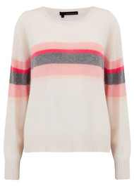 360 SWEATER Christina Cashmere Sweater - Chalk