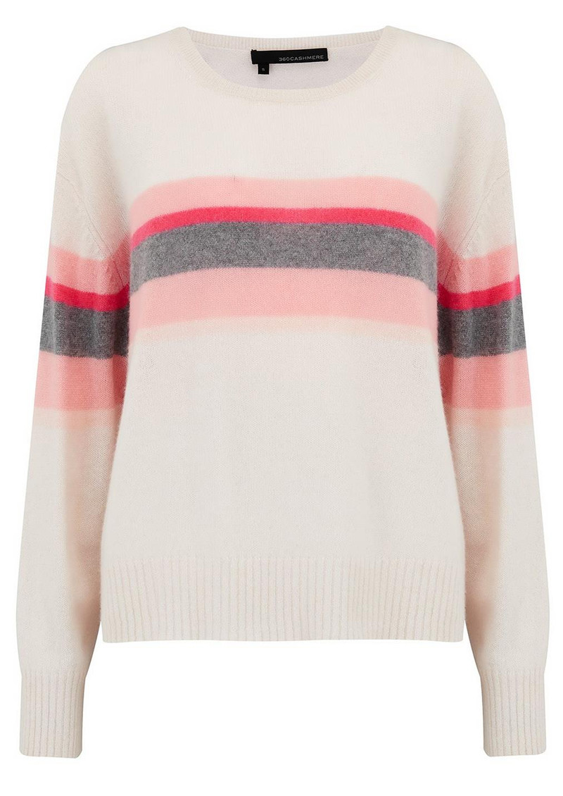 360 SWEATER Christina Cashmere Sweater - Chalk main image