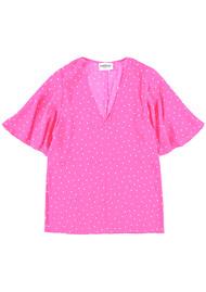 ESSENTIEL ANTWERP Suri1 Polka Dot Top - Lemonade Pink