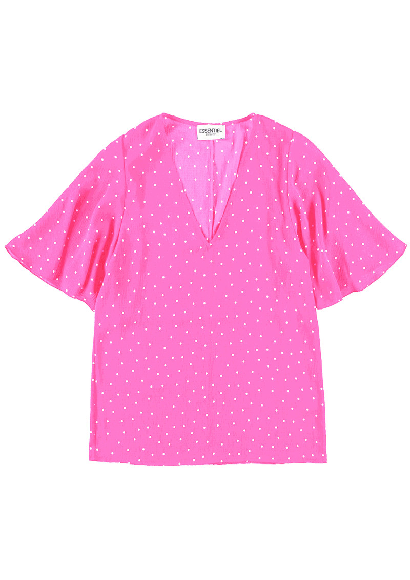 Suri1 Polka Dot Top - Lemonade Pink main image