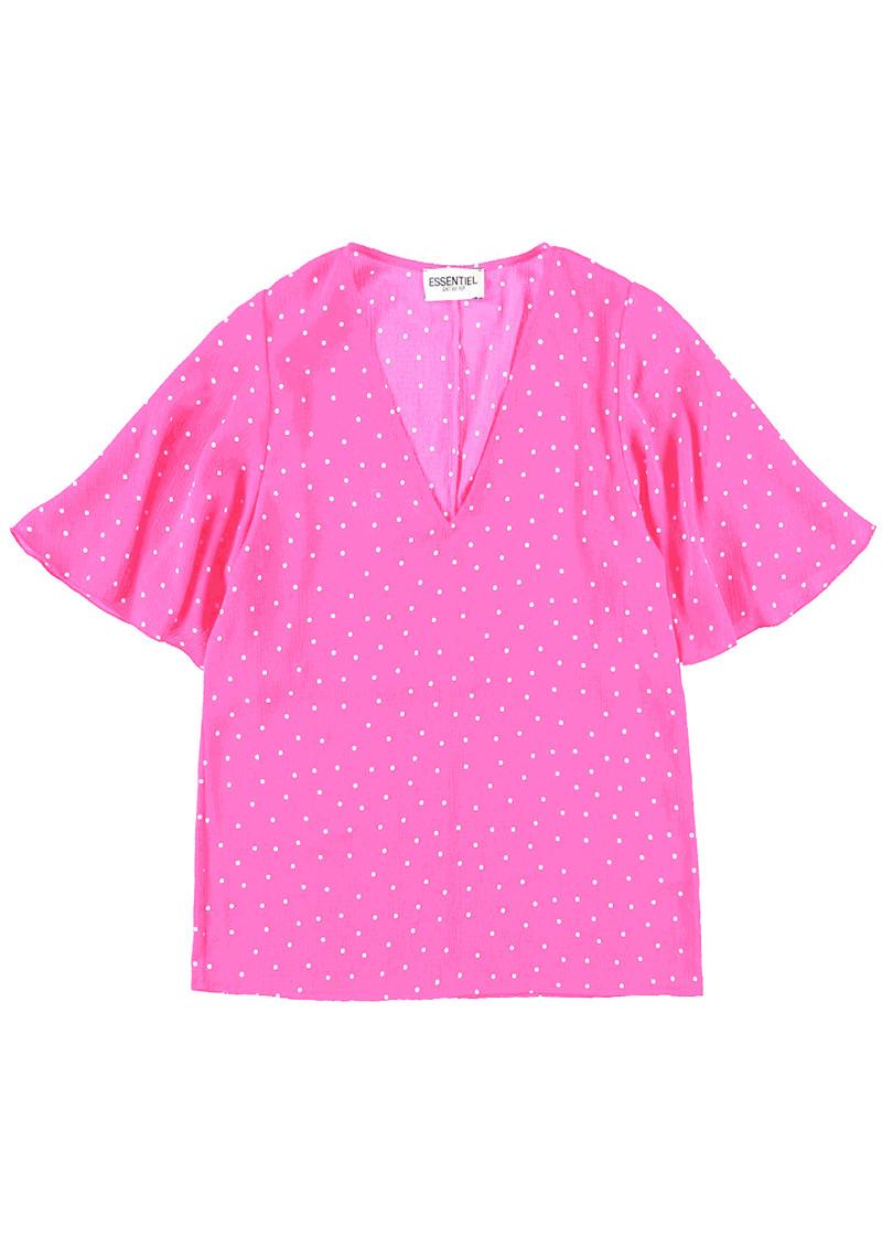 ESSENTIEL ANTWERP Suri1 Polka Dot Top - Lemonade Pink main image