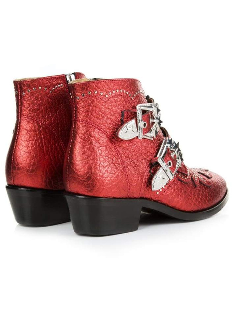 AIR & GRACE Starlight Ankle Boot - Red Metallic main image