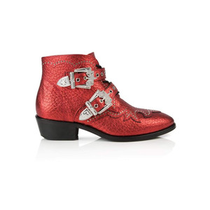 Starlight Ankle Boot - Red Metallic