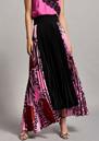 BEATRICE B Zebra Pleated Skirt - Fuchsia Pink