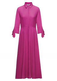 BEATRICE B Shirt Midi Dress - Fuchsia Pink