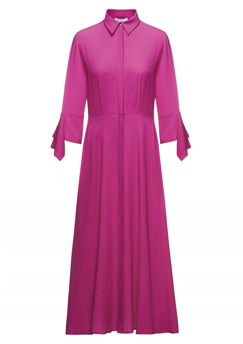BEATRICE B Shirt Midi Dress - Fuchsia Pink main image