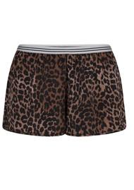LOVE STORIES Edie Leopard Pyjama Shorts - Brown
