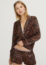LOVE STORIES Edie Leopard Pyjama Shorts - Brown