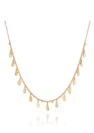 ANNA BECK Signature Drop Charms Choker Necklace - Gold