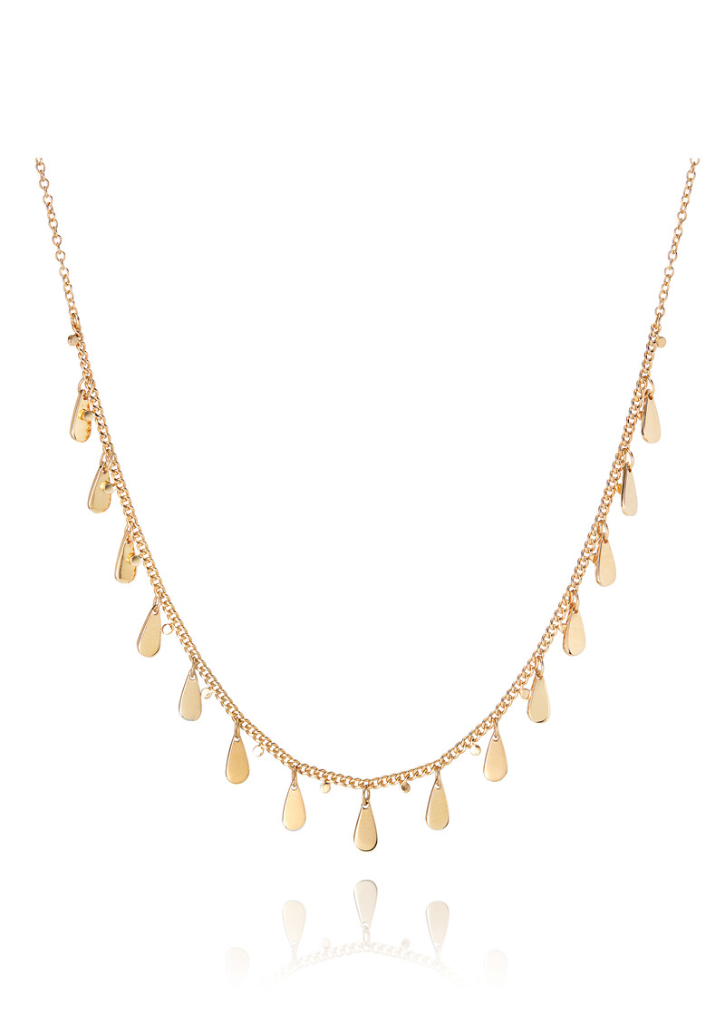 ANNA BECK Signature Drop Charms Choker Necklace - Gold main image