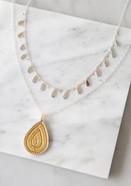 ANNA BECK Signature Drop Charms Choker Necklace - Gold