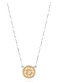 ANNA BECK Signature Reversible Beaded Disc Pendant - Gold & Silver