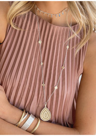 ANNA BECK Signature Beaded Cushion & Large Teardrop Necklace - Gold
