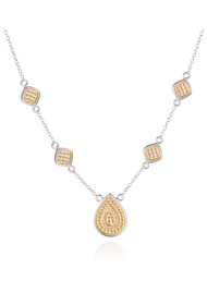 ANNA BECK Signature Beaded Cushion & Teardrop Necklace - Gold