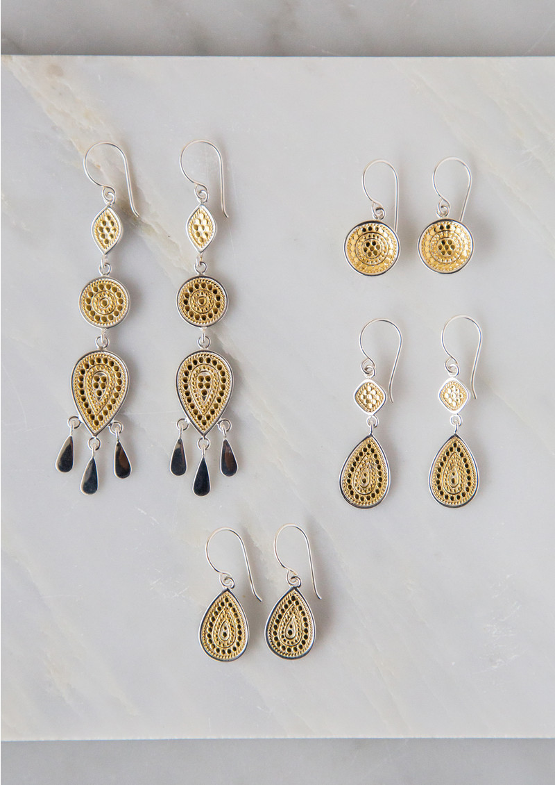 ANNA BECK Signature Dish Drop Earrings - Gold main image