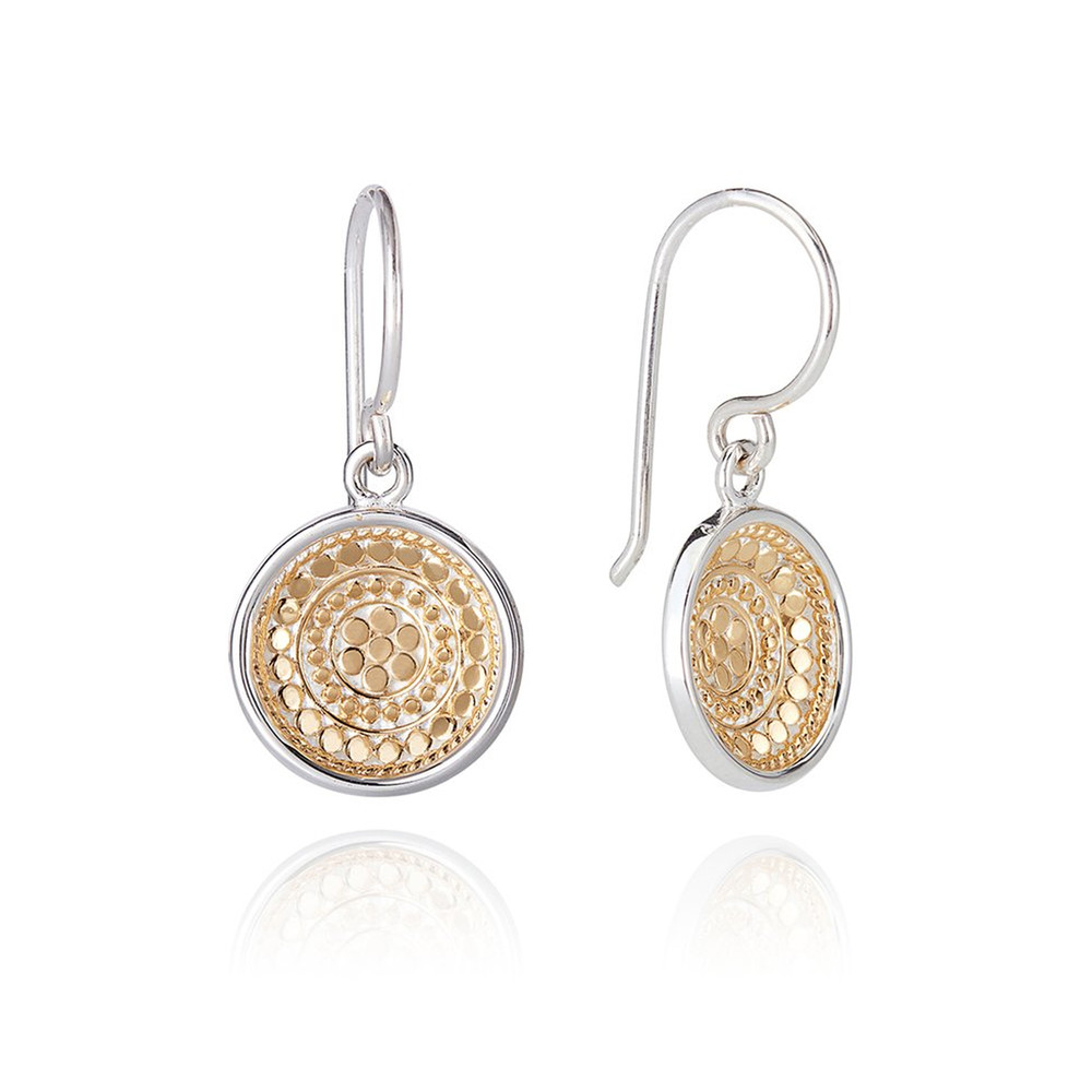 Signature Dish Drop Earrings - Gold
