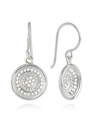 ANNA BECK Signature Dish Drop Earrings - Silver