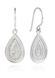 ANNA BECK Signature Medium Beaded Teardrop Earrings - Silver