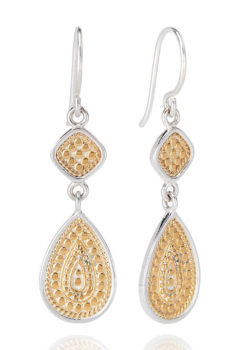 ANNA BECK Signature Beaded Double Drop Earrings - Gold main image