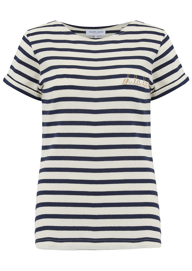 Sailor Short Sleeve Oh La La Tee - Ivory Navy main image